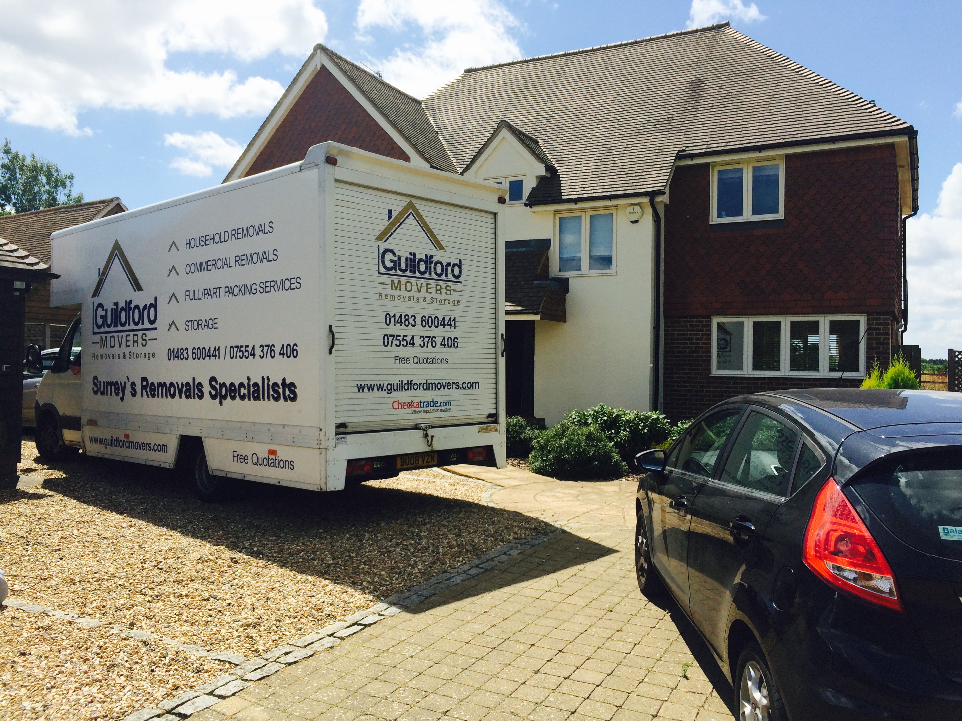 guildford movers removal van